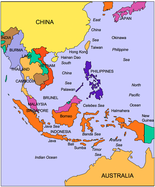 Country Map Of Southeast Asia.Usa County World Globe Editable Powerpoint Maps For Sales And