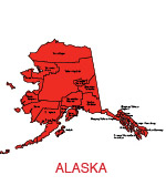 Alaska Us State County Map Editable Powerpoint