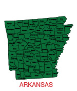 Arkansas Us State County Map Editable Powerpoint